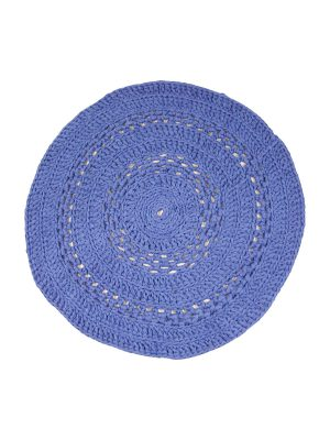 peony  crochet cotton floor mat small