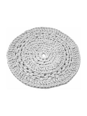 peony white crochet cotton placemat small