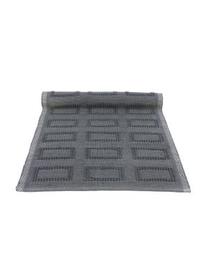 quadro anthracite woven cotton floor mat small