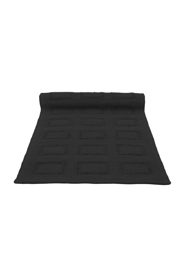 quadro  woven cotton floor mat small