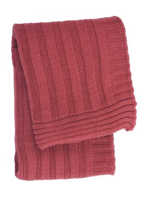 ribs chillipepper knitted cotton little blanket small