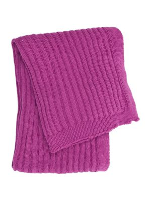 ribs small pink knitted cotton little blanket small
