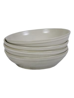 salad bowl milk glaze ceramic large