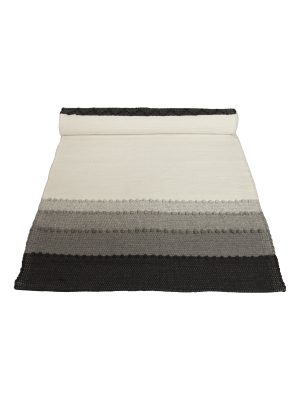 shadow grey woven cotton table runner medium