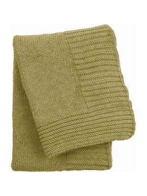 spots ochre knitted cotton little blanket small
