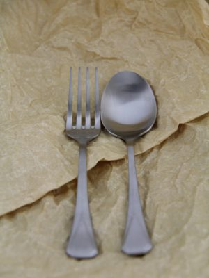 stainless steel cutlery silver desert set