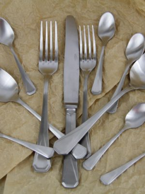stainless steel cutlery silver diner set