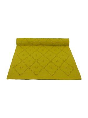 star citrus woven cotton floor mat small