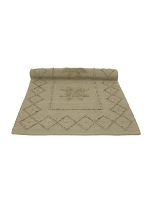 star latte woven cotton floor mat small