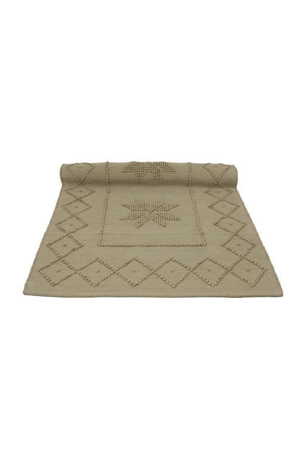 star latte woven cotton floor mat small