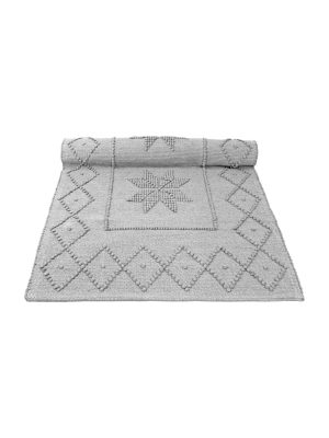 star light grey woven cotton floor mat small