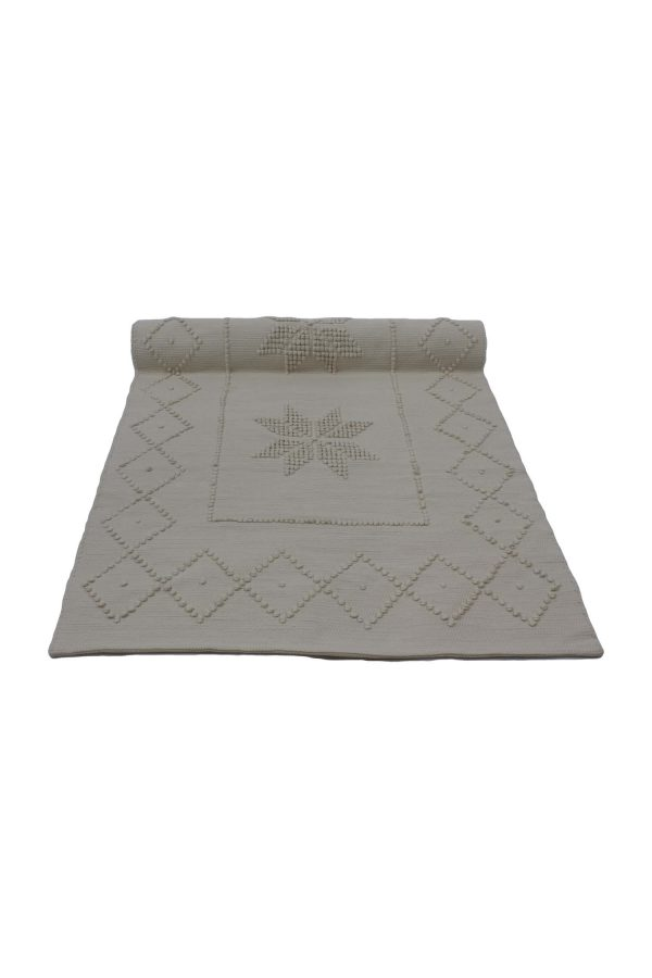 star linen woven cotton floor mat small