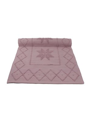 star old rose woven cotton floor mat small