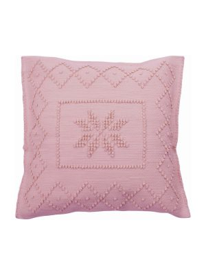 star pink woven cotton pillowcase medium