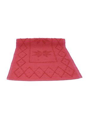 star red woven cotton floor mat small