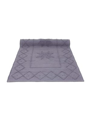 star violet woven cotton floor mat small