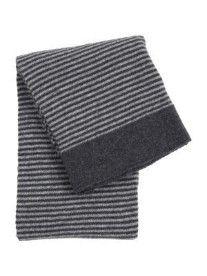 stripy grey knitted woolen little blanket small