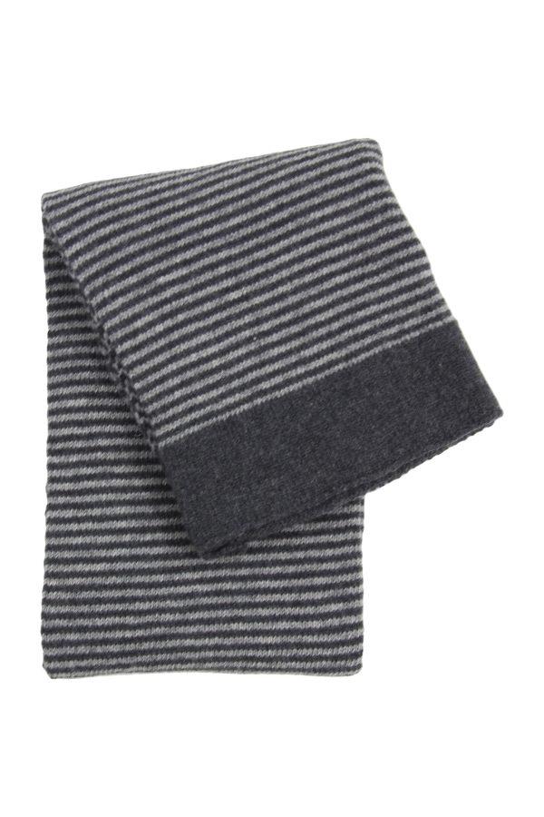stripy grey knitted woolen little blanket small