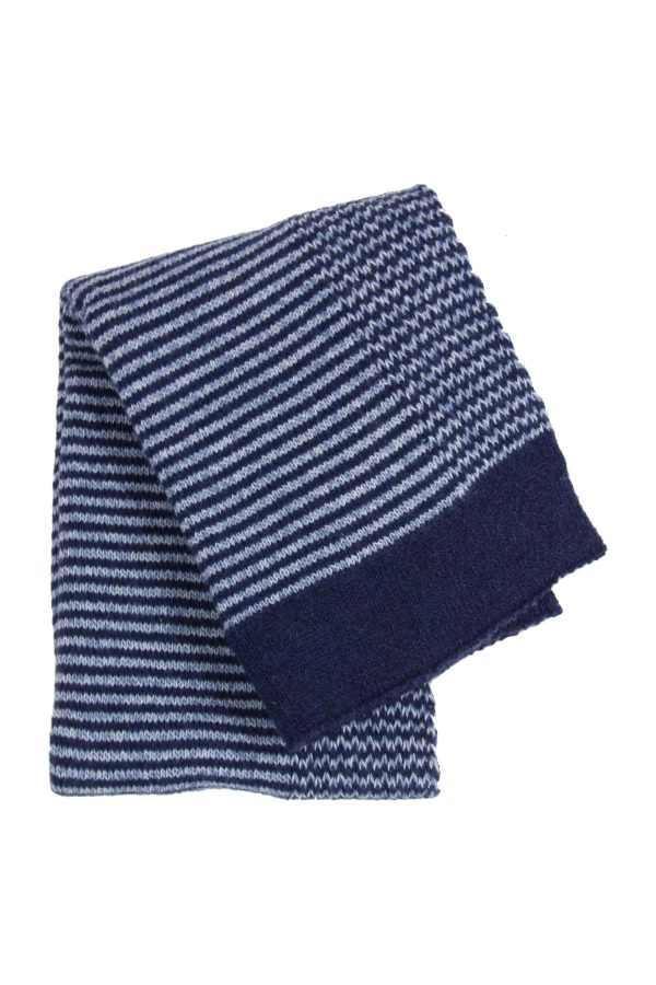 stripy ink knitted woolen little blanket small