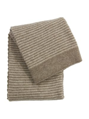 stripy linen knitted woolen little blanket small