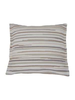stripy linen woven cotton pillowcase medium