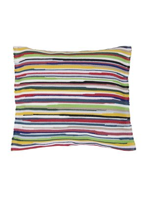 stripy mixmatch woven cotton pillowcase medium
