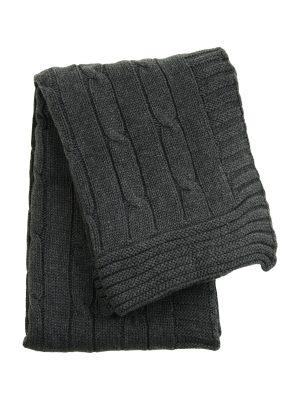 twist anthracite knitted cotton little blanket medium