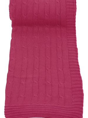 twist fuchsia knitted cotton plaid medium