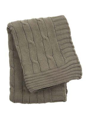twist latte knitted cotton little blanket small
