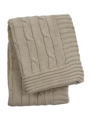 twist linen knitted cotton little blanket small