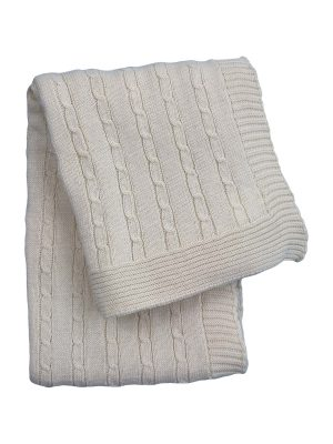 twist small linen knitted cotton little blanket small