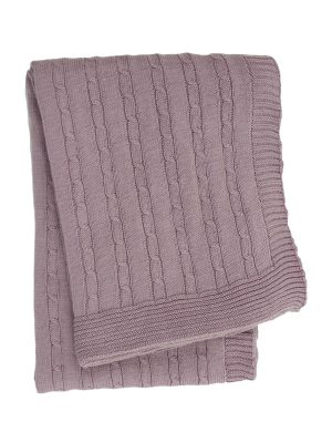 twist small violet knitted cotton little blanket small