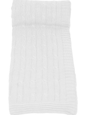 twist white knitted cotton plaid medium