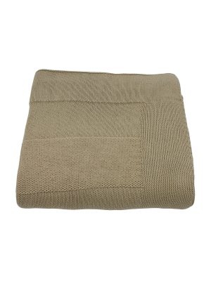 urban linen knitted cotton throw large