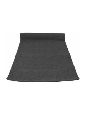 nordic anthracite woven cotton rug medium