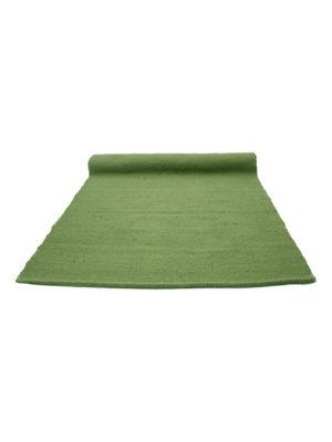 nordic hunter green woven cotton rug medium