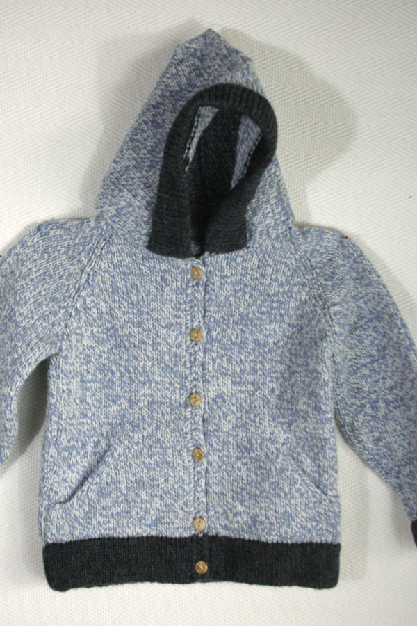 knitted woolen cardigan basic baby blue