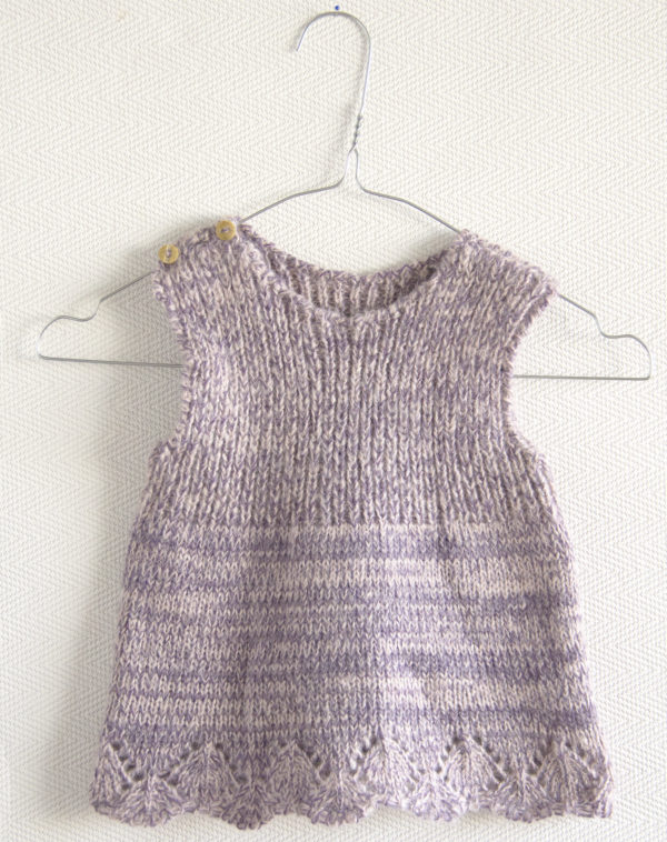 basic lavender knitted woolen dress