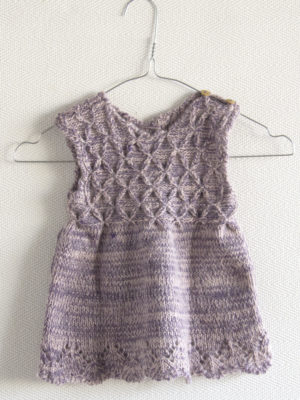 diamond lavender knitted woolen dress