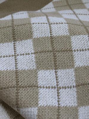 diamond sand knitted cotton throw