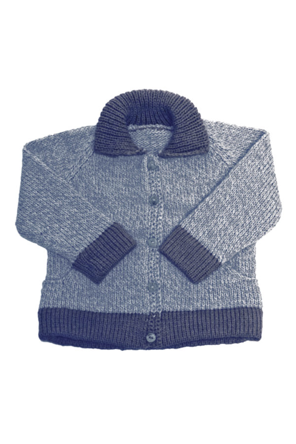 knitted woolen cardigan basic baby blue 0 year