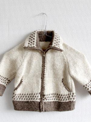 knitted woolen cardigan basic ecru 2 year