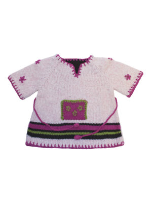 knitted woolen cardigan pink 0 year