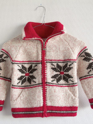 knitted woolen cardigan star pink 5 year