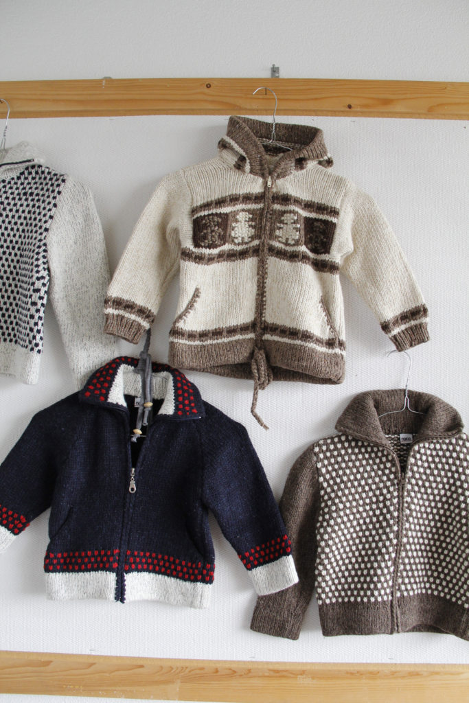 knitted woolen cardigans