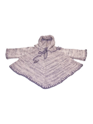 knitted woolen ponjo lavender 1 year