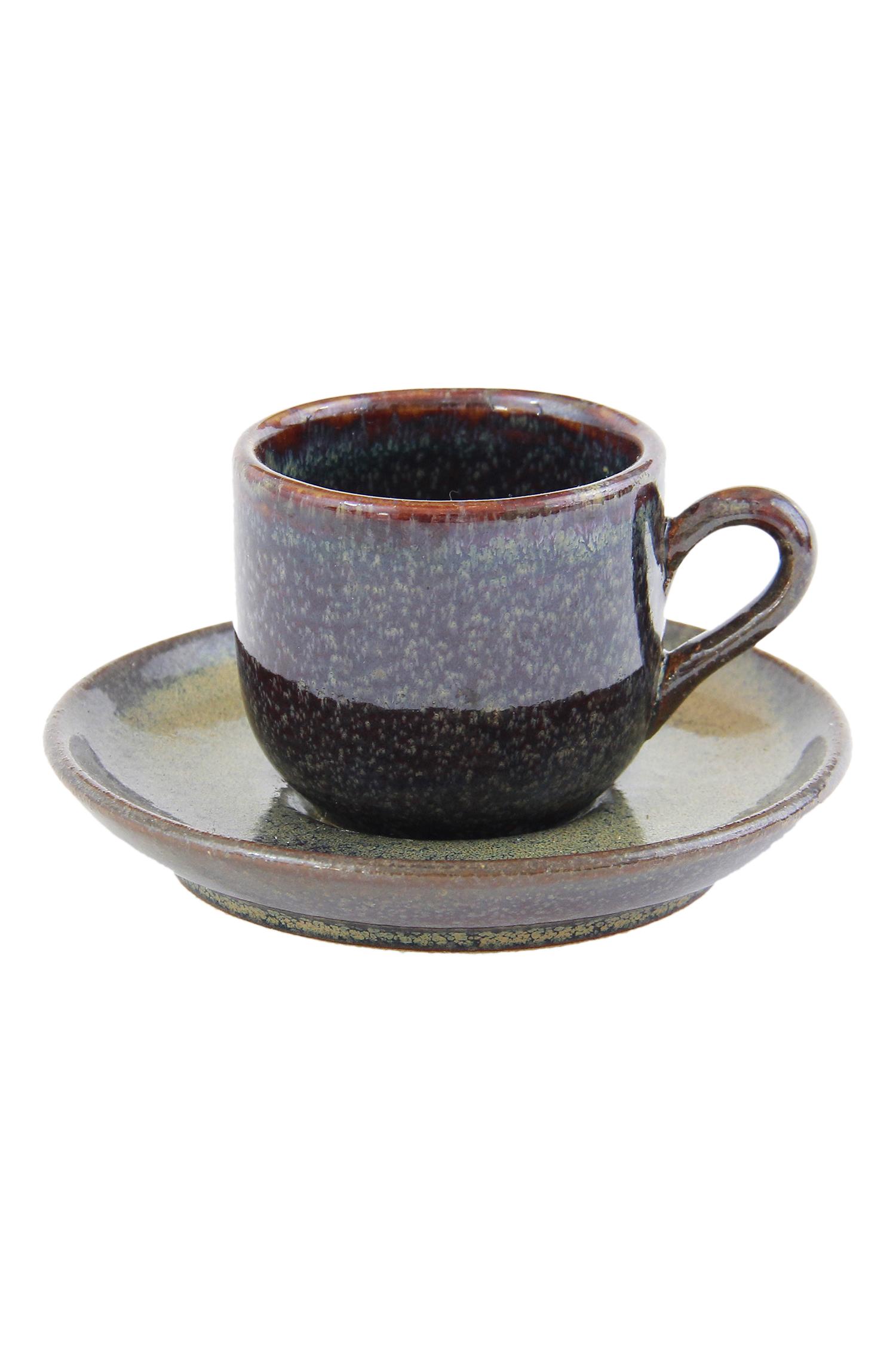 Espresso Cup And Saucer Glaze Ceramic Naco Shop
