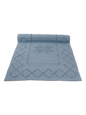 star jeans blue woven cotton floor mat small