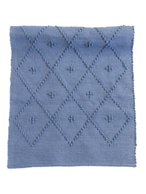 diamond jeans blue woven cotton floor mat small