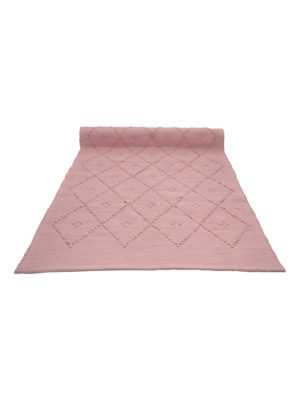diamond coral woven cotton floor mat small